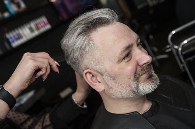 Image of main having a haircut at The Salon in Hull. Men's hairdressing Salon. Also Unisex salon in Hull.