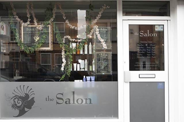 Photo of the Salon shop front in Chanterlands Avenue in Hull. Unisex Salon in Hull. Men's Hairdresser, Women's Hairdresser, Childrens hairdressing in Hull